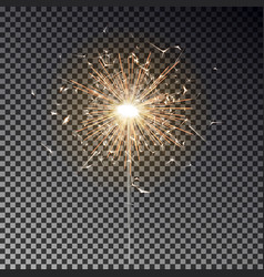 Sparkler candle isolated bengal fire light vector