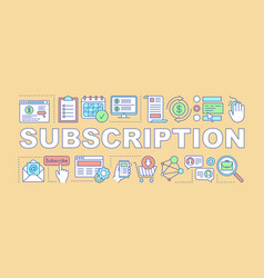 subscription word concepts banner vector image