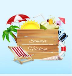 Summer holidays concept vector