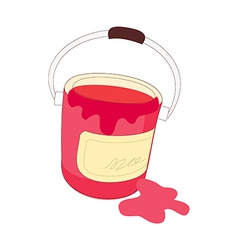 The paint in a bucket vector