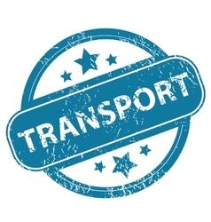 TRANSPORT round stamp vector