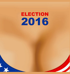 Usa 2016 presidential election poster woman vector