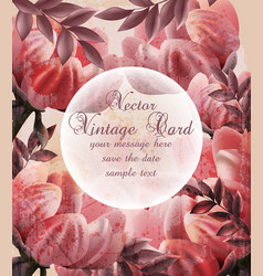 vintage flowers wallpaper floral decor vector image