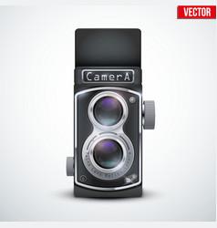 Vintage twin lens reflex camera vector image