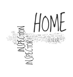What does a home inspector do text word cloud vector