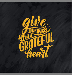 with lettering quote for thanksgiving vector image
