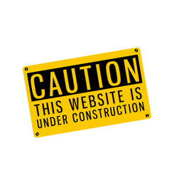 Yellow warning caution this website is under const vector