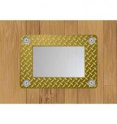 gold metal plaque vector image