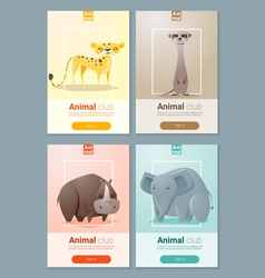 Set of Wild animal templates for web design 2 vector image vector image