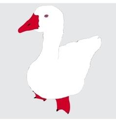 White goose vector image
