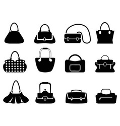 bags silhouettes vector image vector image