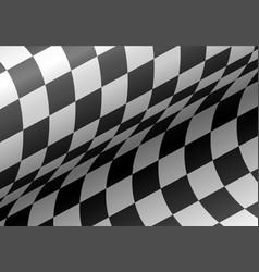 checkered flag wave background vector image