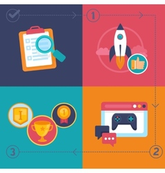 gamification process vector image vector image