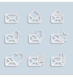 Paper Envelopes Icons vector image vector image