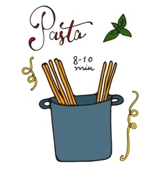 Pasta cooking vector image vector image