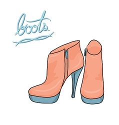 pastel color modern boots vector image