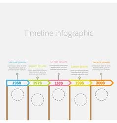 Arrow Flag sticks Horizontal Timeline Infographic vector image