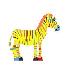 Colored zebra Colorful zebra Colorful stripes on vector image vector image