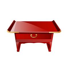 icon table vector image
