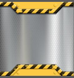 industrial metal background construction vector image vector image