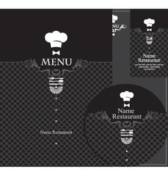 menu waiter vector image vector image