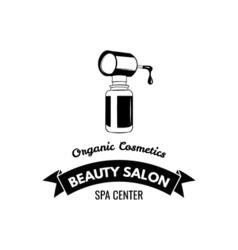 Beauty Salon Badge Nail Polish Makeup Ribbon Logo vector image vector image