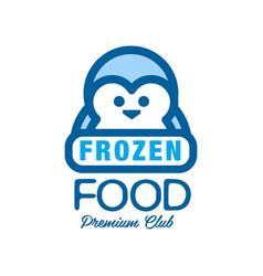 Frozen food premium club label for freezing with vector