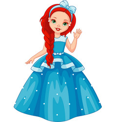 little princess vector image
