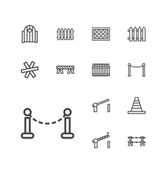 13 barrier icons vector