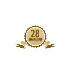 28 years ribbon anniversary vector image
