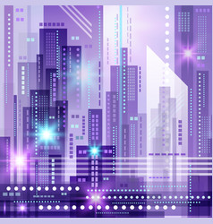 abstract modern cityscape vector image