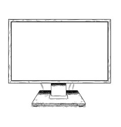 artistic drawing of computer lcd display as sign vector image