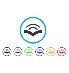 Audiobook rounded icon vector