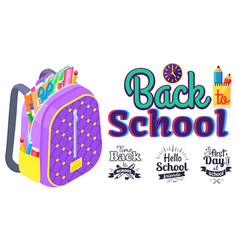 back to school concept colorful banner vector image