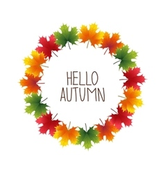 Banner advertising and autumn colored maple vector image