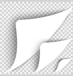Bent page corner the white sheet vector