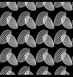 Black striped leaves background seamless graphic vector