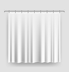 blank shower curtain template or mock-up vector image