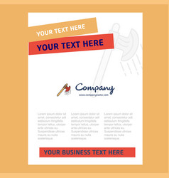 Bloody axe title page design for company profile vector