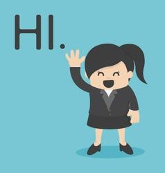 Business Woman Hi vector image