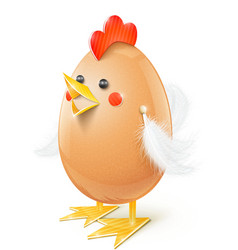 chicken egg handicraft vector image