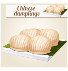 Chinese dumplings Detailed Icon vector
