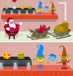 christmas factory vector image