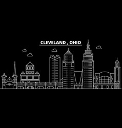 cleveland silhouette skyline usa - cleveland vector image
