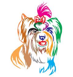 colorful decorative portrait of dog biewer vector image
