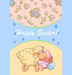 colorful happy easter poster vector image