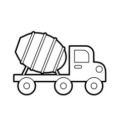 concrete mixer truck with special equipment vector image