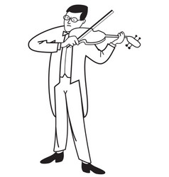 contour of violinist vector image