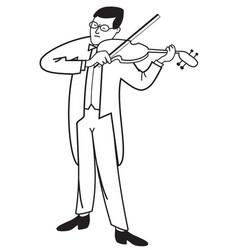 Contour of violinist vector