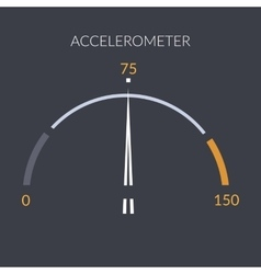 Design speedometer cars speed Meter control vector